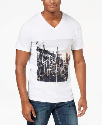 INC International Concepts I.n.c. Men's Double City Graphic V-Neck T-Shirt, Created for Macy's