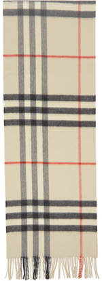 Burberry Off-White Check The Classic Cashmere Scarf