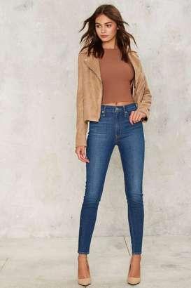 Levi's Levi's Mile High Super Skinny Jeans - Bright Haze $98 thestylecure.com