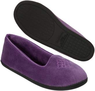 Dearfoams Women's Microfiber Velour Closed Back Slipper