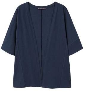 Violeta BY MANGO Cotton-blend cardigan