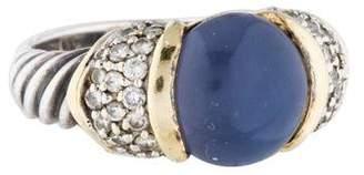 David Yurman Two-Tone Chalcedony & Diamond Ring $795 thestylecure.com