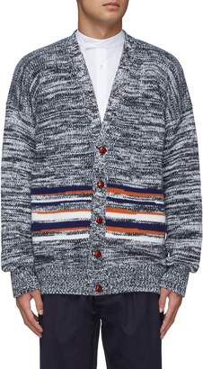 E. Tautz Colourblock stripe panel wool-cashmere cardigan