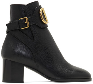 Valentino Black Garavani VLogo Ankle Boots
