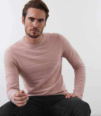 Reiss BOWMONT RIBBED CREW NECK JUMPER Soft Pink