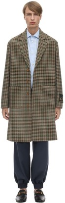 Gucci Wool Blend Houndstooth Coat