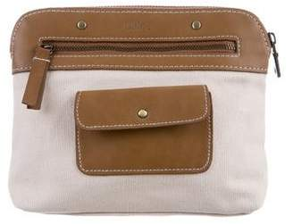 Chloé Leather & Canvas Pouch