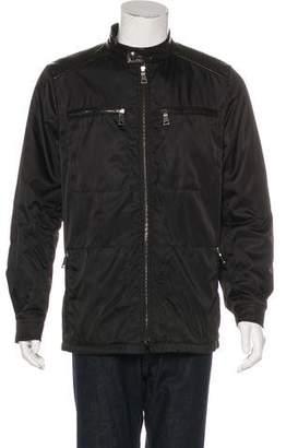 Prada Leather-Trimmed Tessuto Jacket