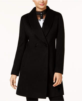 Calvin Klein Wool-Cashmere Blend Coat with Shawl Collar