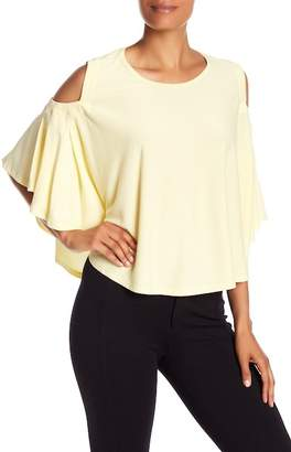 Catherine Malandrino Lightweight Shoulder Cut-out Blouse