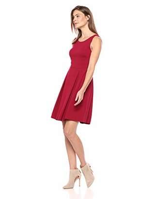 f706749d7e Lark   Ro Women s Sleeveless Crew Neck Pleated Fit   Flare Dress
