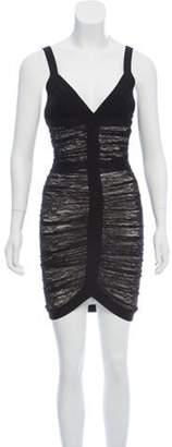 Herve Leger Lace Bandage Dress Black Lace Bandage Dress