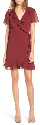 Lush Colie Ruffle Wrap Dress