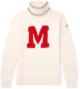 Moncler Genius 2 1952 Intarsia Virgin Wool Rollneck Sweater