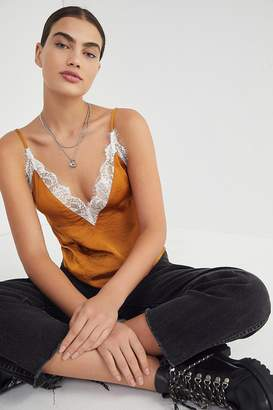 Urban Outfitters Lace Trim Satin Cami