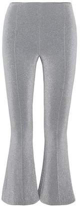 Rosetta Getty Metallic Stretch-Knit Kick-Flare Pants
