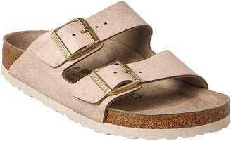 Birkenstock Arizona Birko-Flor Washed Metallic Leather Sandal