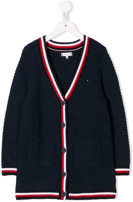 Tommy Hilfiger Junior cable knit cardigan