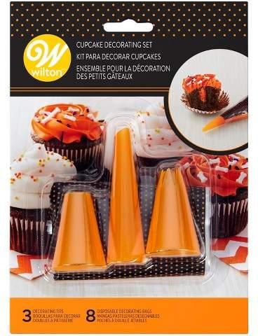 Wilton 3pk Halloween Cupcake Decorating Set Orange