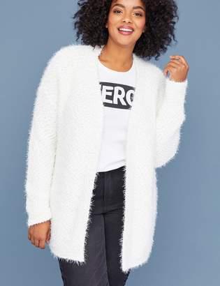 Lane Bryant Textured Fuzzy Sweater Overpiece