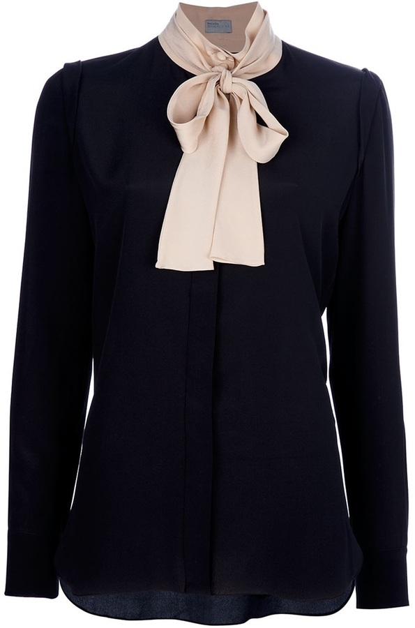 Mantu Pussy bow blouse