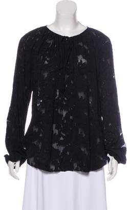 L'Agence Silk Patterned Blouse