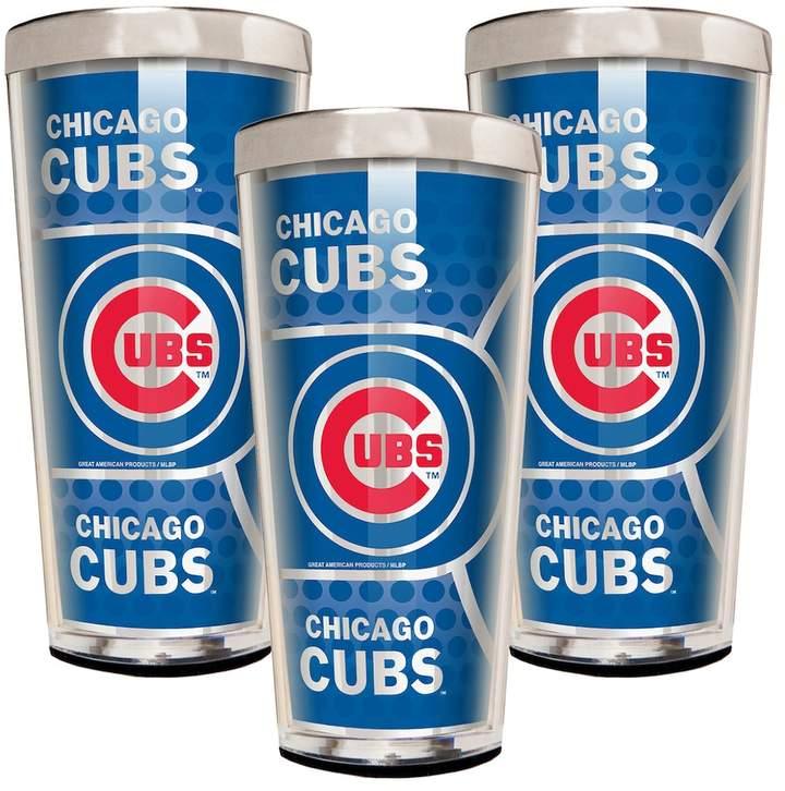 Kohl's Chicago Cubs 3-Piece Shot Glass Set