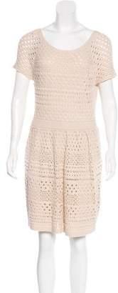 Tibi Crochet Mini Dress