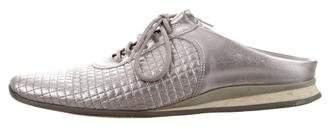 Prada Sport Leather Round-Toe Sandals
