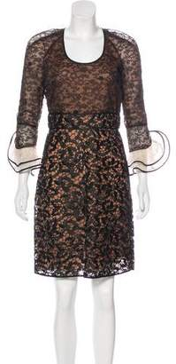 Valentino Guipure Lace Knee-Length Dress