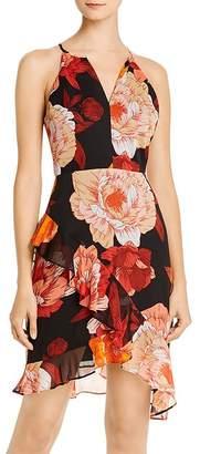 GUESS Kersten Ruffled Floral Sheath Dress