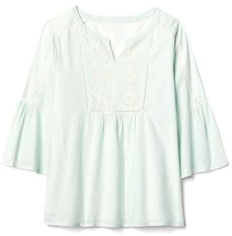 Gap Eyelet Bell-Sleeve Top