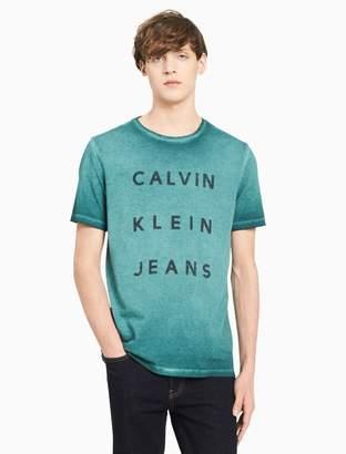 Calvin Klein big + tall ckj logo crewneck t-shirt