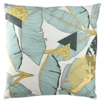 "Northlight 17"" Green Tropical Banana Leaf Decorative Linen Throw Pillow"