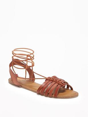 Lace-Up Huarache Sandals for Women $26.94 thestylecure.com