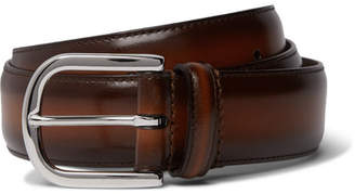 Andersons Anderson's - 3.5cm Brown Burnished-Leather Belt