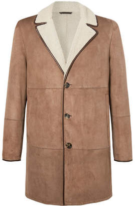 Loro Piana Wollaston Shearling Coat - Men - Brown