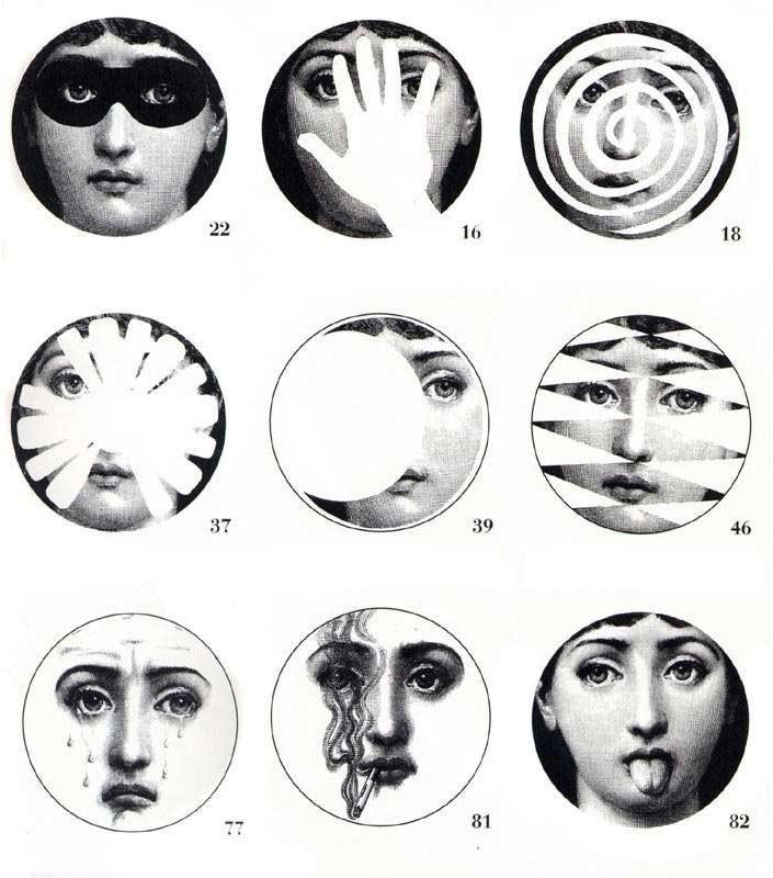 Fornasetti - theme and variations plates by piero fornasetti