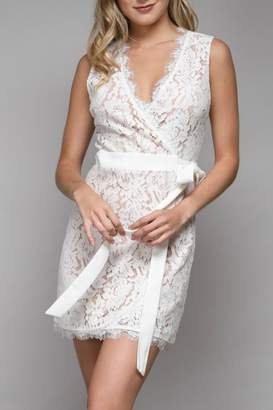 Pretty Little Things Lace Wrap Dress