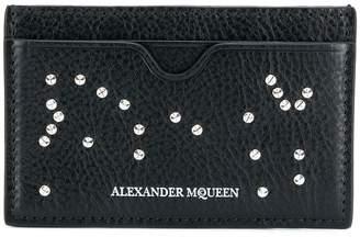 Alexander McQueen Studded Skull card holder