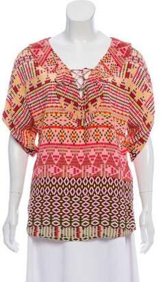 Rebecca Minkoff Long Sleeve Silk Top