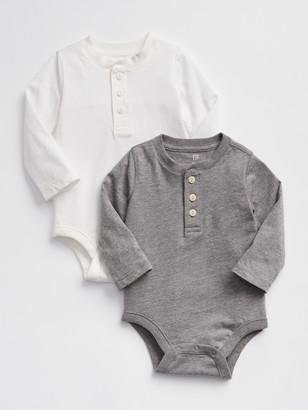 Gap Baby Henley Bodysuit (2-Pack)