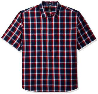 Dickies Men's Yarn Dyed Plaid Short Sleeve Shirt Big-Tall