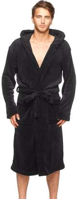 Wanted Mens New Micro Fleece Hooded Bathrobe by Large / X large