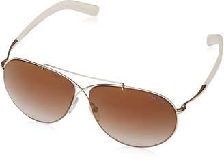 Tom Ford Eva Aviator Sunglasses Shiny Brown Mirror FT0374 28G 61