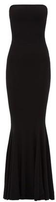 Norma Kamali Strapless Technical Jersey Fishtail Dress - Womens - Black
