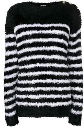 Balmain textured stripe sweater