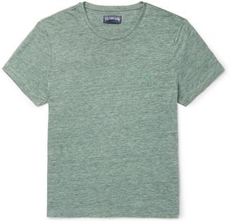 Vilebrequin Tiramisu Logo-Embroidered Melange Linen T-Shirt - Men - Green