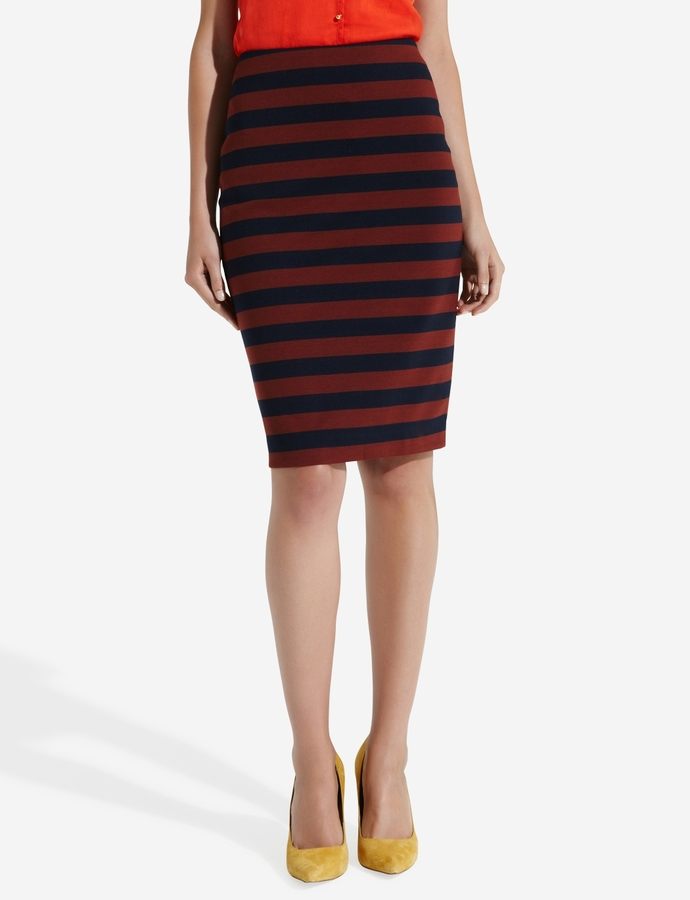 The Limited Striped Ponte Skirt
