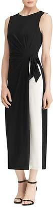 Lauren Ralph Lauren Petites Sleeveless Color-Block Dress